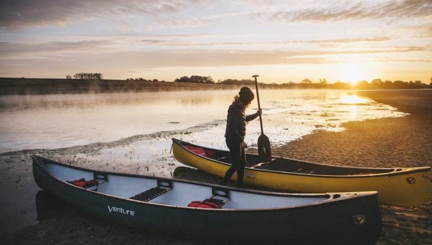 Week-endnaturesur la Loire:initiation au canoë-bivouac