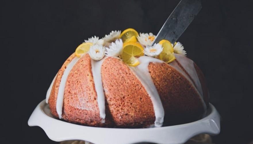 Cake madeleine au citron