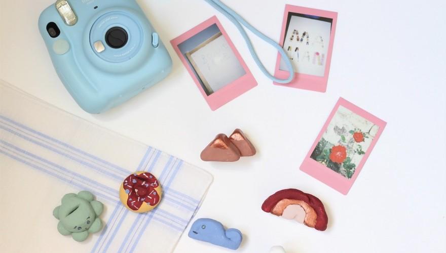 DIY fête des mères : de jolis porte-photos Instax en pâte à sel