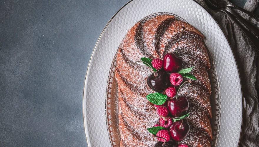 Cake au mascarpone et framboises