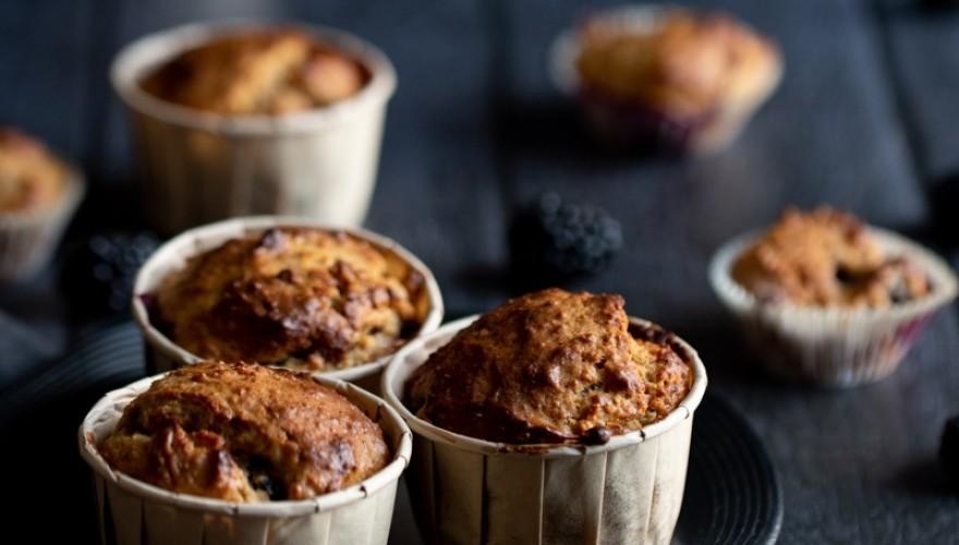 Muffins yaourt et mûres
