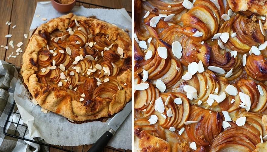 Tarte rustique aux pommes et gingembre