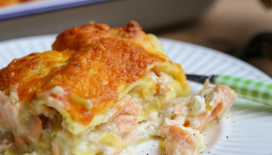 Lasagnes saumon poireaux