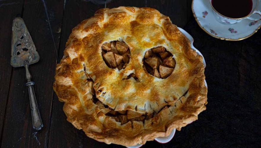 Tourte aux Pommes effrayante pour Halloween